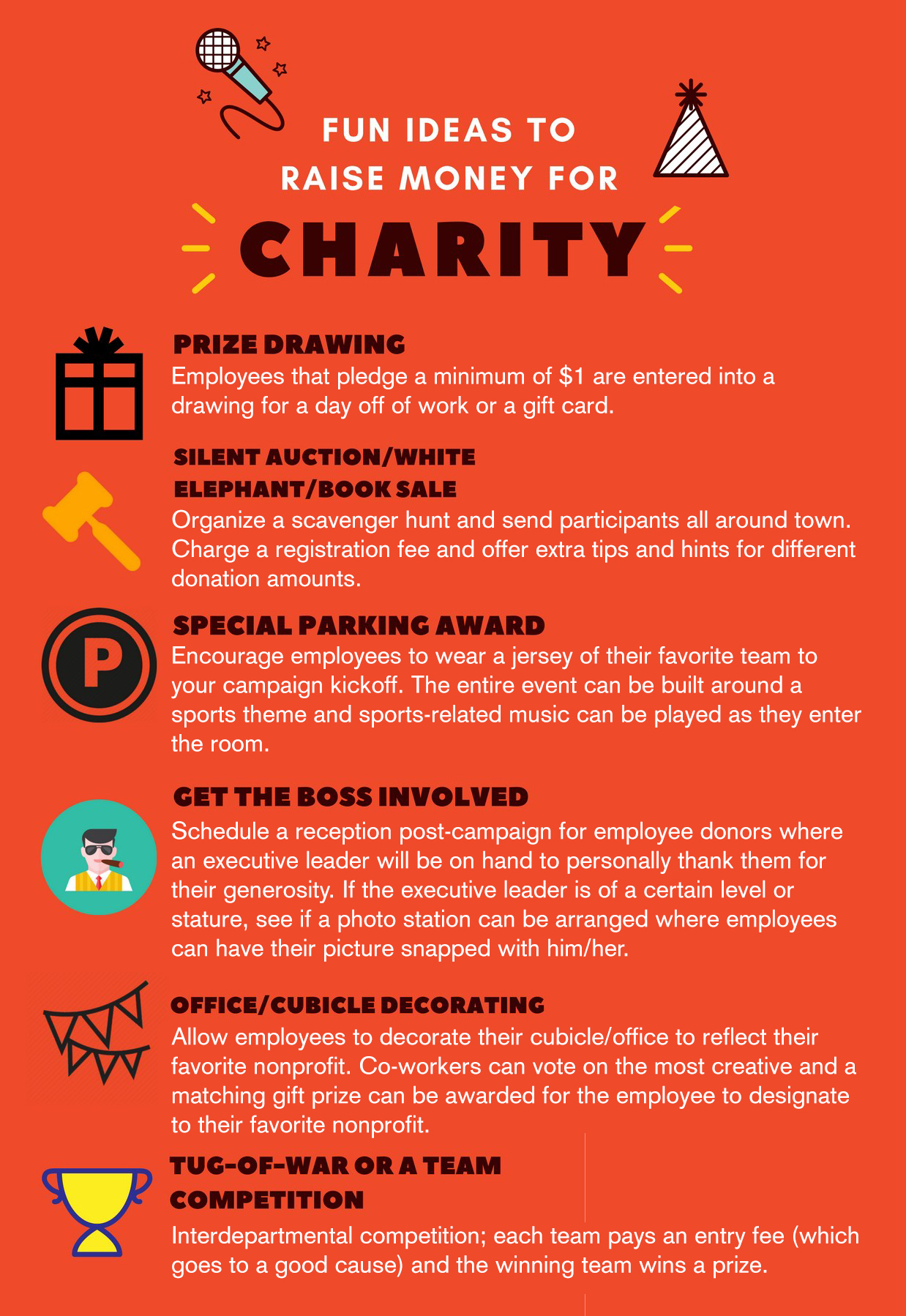 fun ideas for engaging employees and raising money for charity