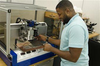 Man using machine