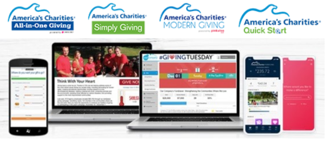 America's Charities Workplace Giving Solution Logos and Screenshots