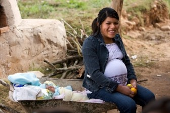 Pregnant woman in Bolivia
