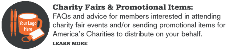 Nonprofit Member Charity Fairs and Promotional Items
