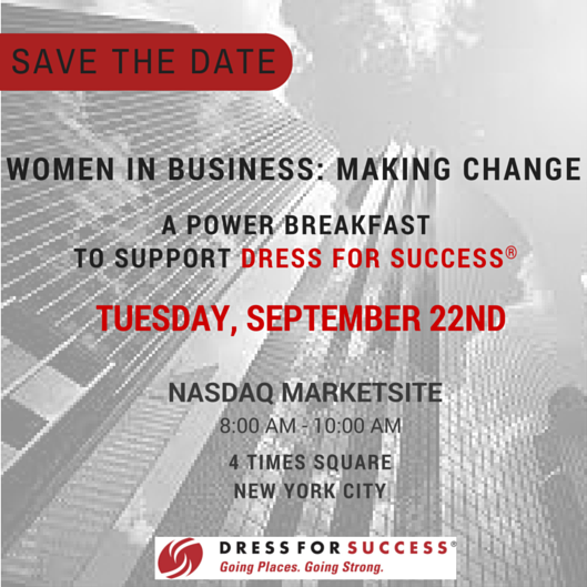 Women in Business: Making Change Save the Date