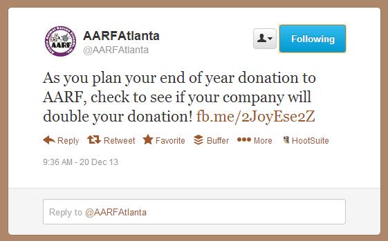 Double the Donation-America's Charities-AARFAtlanta