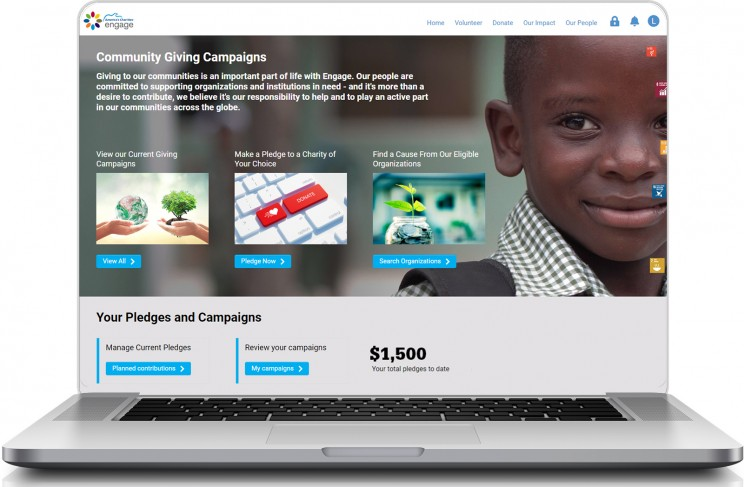 America's Charities Engage powered by SmartSimple holistic CSR solution