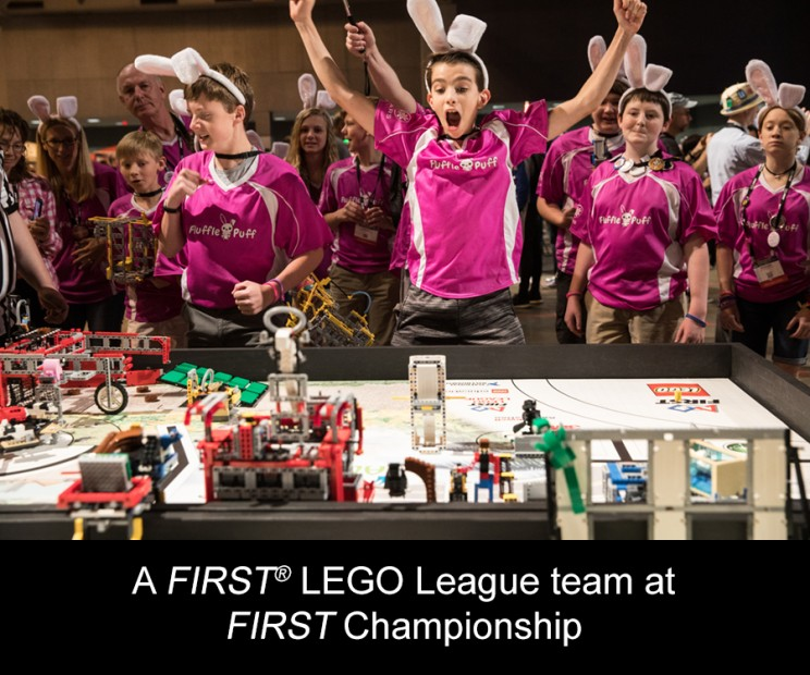 A FIRST® LEGO League team at FIRST Championship