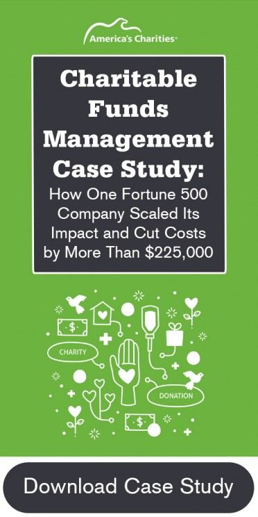 Charitable Funds Management case study - how fortune 500 company cut costs and scaled impact