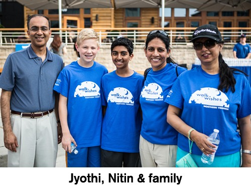 Jyothi, Nitin & family receive wish from Make-A-Wish Mid-Atlantic