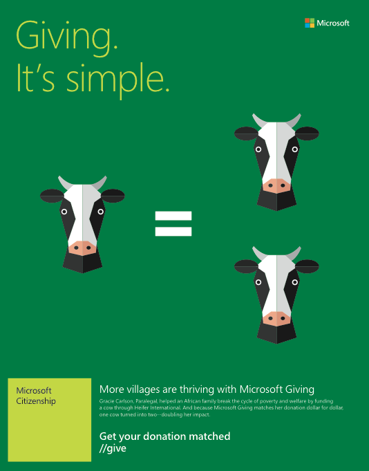 Microsoft: One of the Best at Communicating Philanthropy Opportunities to Employees
