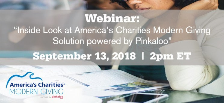 Webinar: America's Charities Modern Giving Employer Workplace Solution