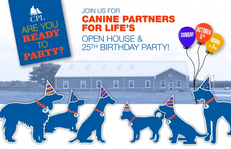 Celebrate Canine Partners for Life October 5th Open House & 25th Birthday Party
