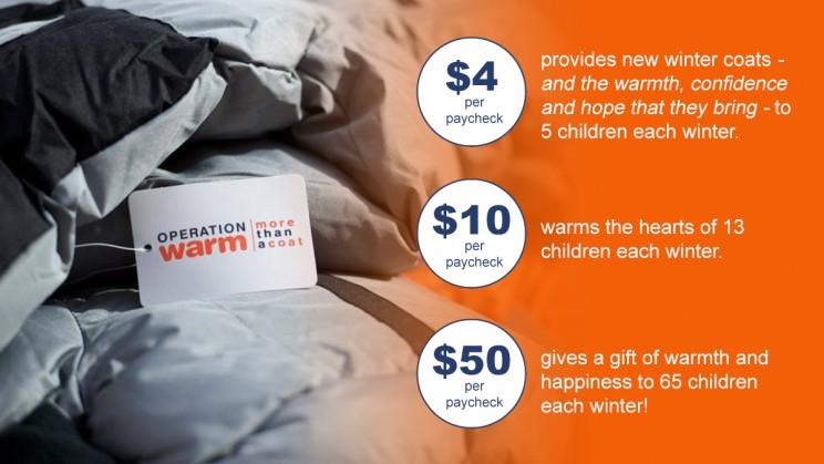 Operation Warm - donation impact