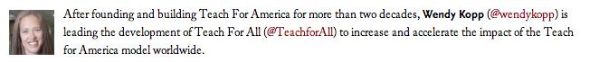 Wendy Kopp, Teach For America