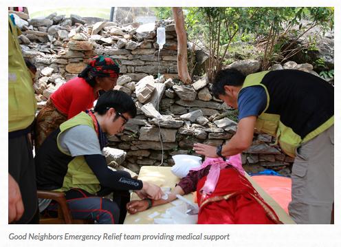 Good Neighbors Earthquake Relief