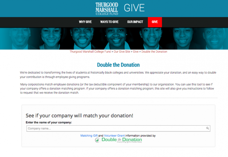 Giving Tuesday Matching Gifts Tool