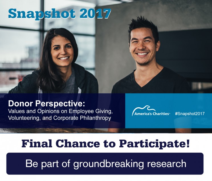 Snapshot 2017 Employee Giving and Engagement Donor Perspective Survey