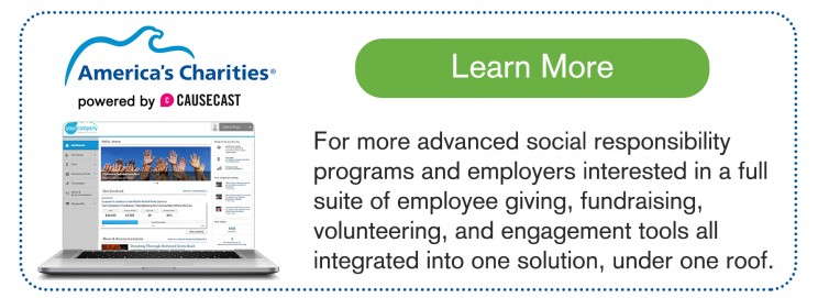 All-in-One integrated donation and volunteer employee giving technology