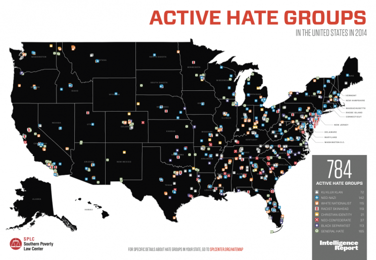 SPLC Hate Group Map