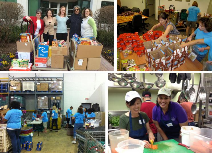 America's Charities employees volunteering in our community