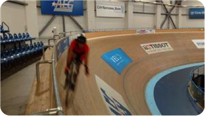 Charisse Browner, America's Charities - biking at the velodrome