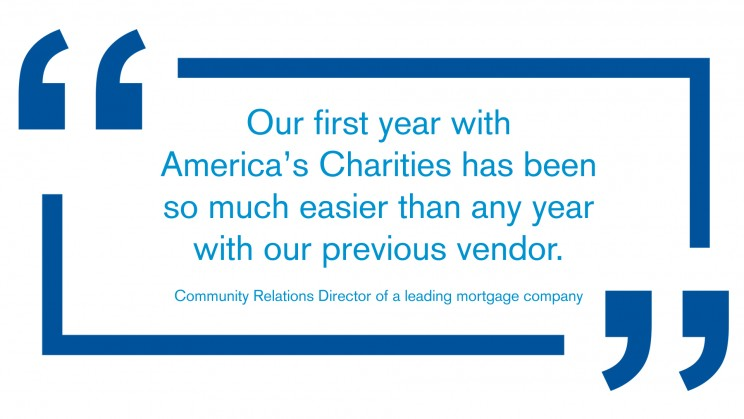 America's Charities client testimonial
