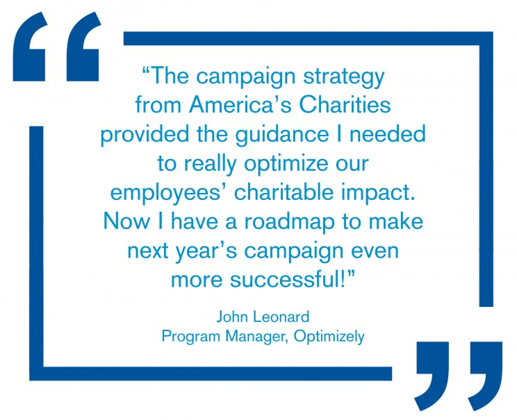 Client testimonial employee giving CSR strategy