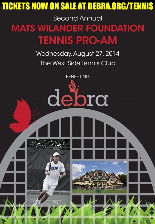 Join Mats Wilander & debra of America for the 2nd Annual Mats Wilander Foundation Tennis Pro-Am