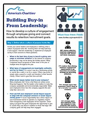 Build buy-in from leadership: employee giving and retention