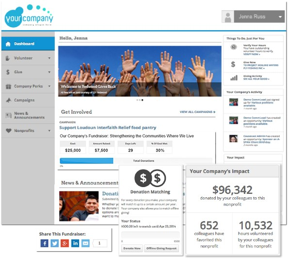 America's Charities powered by Causecast Employee Giving and Engagement Technology