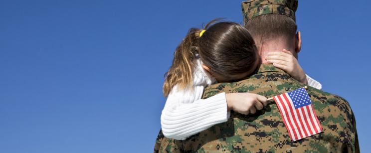 Veteran with daughter