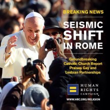 Human Rights Campaign Seismic Shift in Rome