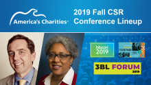 2019 Fall CSR Conference Lineup: Meet-up with America's Charities at These Events