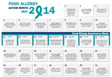 Food Allergy Action Month Calendar