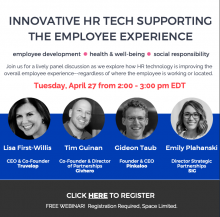 Webinar April 27, 2021: Innovative HR Tech Supporting the Employee Experience