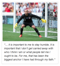 Team USA Goalkeeper Tim Howard: Comfortable in HIs Own Skin