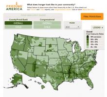 Feeding America map