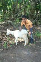 Gerardo with Goat