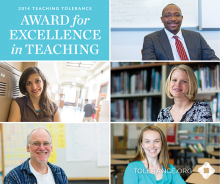 Teaching Tolerance announces recipients for national education award