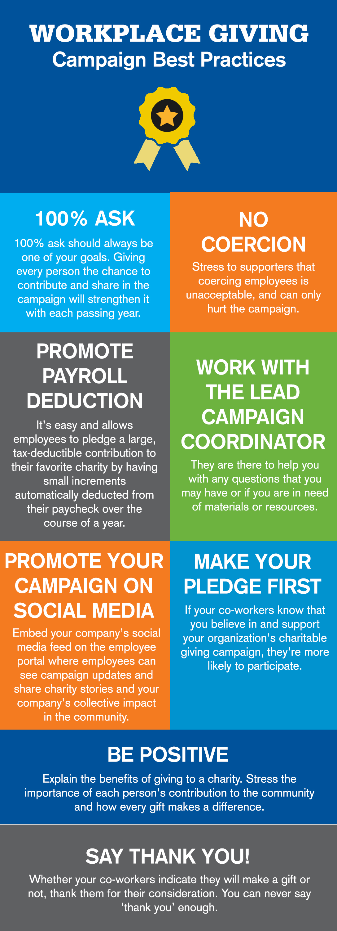 workplace giving campaign best practices